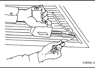 Lacetti: Ремонт линий сетки обогрева заднего стекла