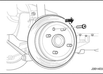 Lacetti: Снятие заднего тормозного диска