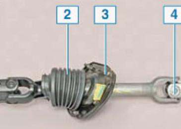 Lacetti: Промежуточный вал и уплотнение передней панели