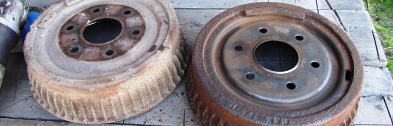 Замена колодок задних барабанных тормозов