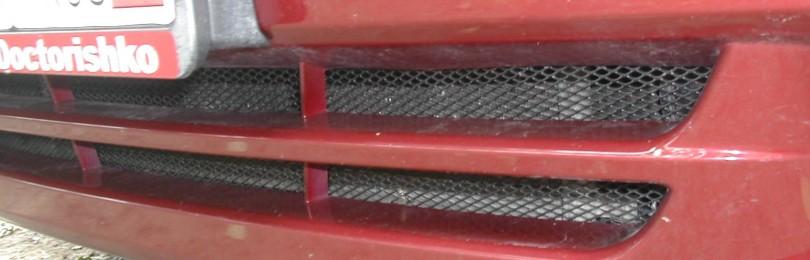 Установка сетки в бампер