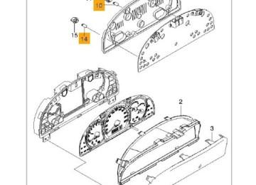 Lacetti: Замена ламп накаливания комбинации приборов
