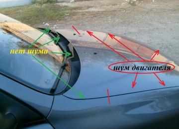 Шумоизоляция моторного щита снаружи