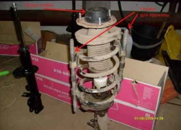 Ласетти: замена задних амортизаторов